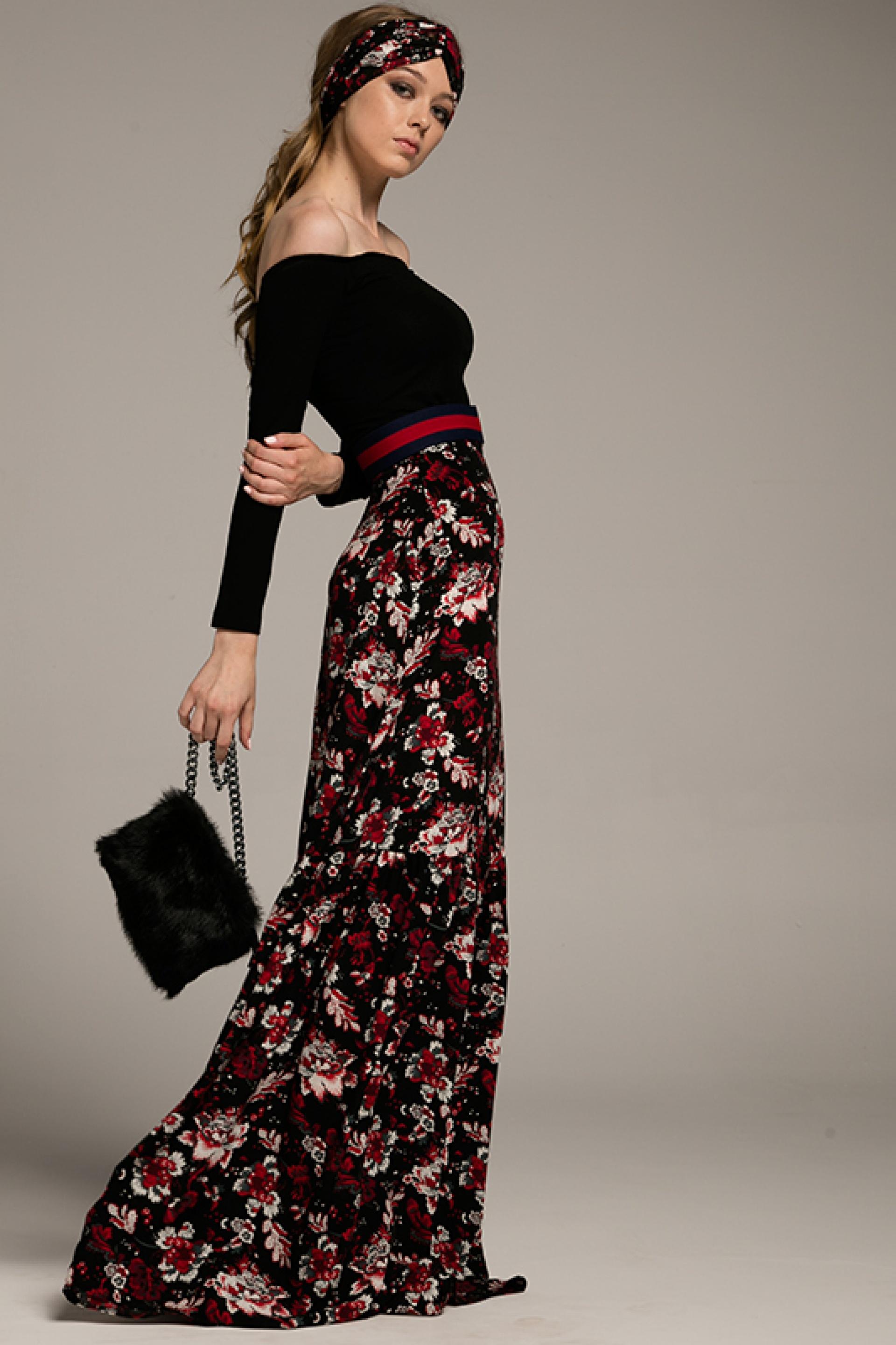 Bardzo dobry Długa spódnica w kwiaty - Gust Gust TG79