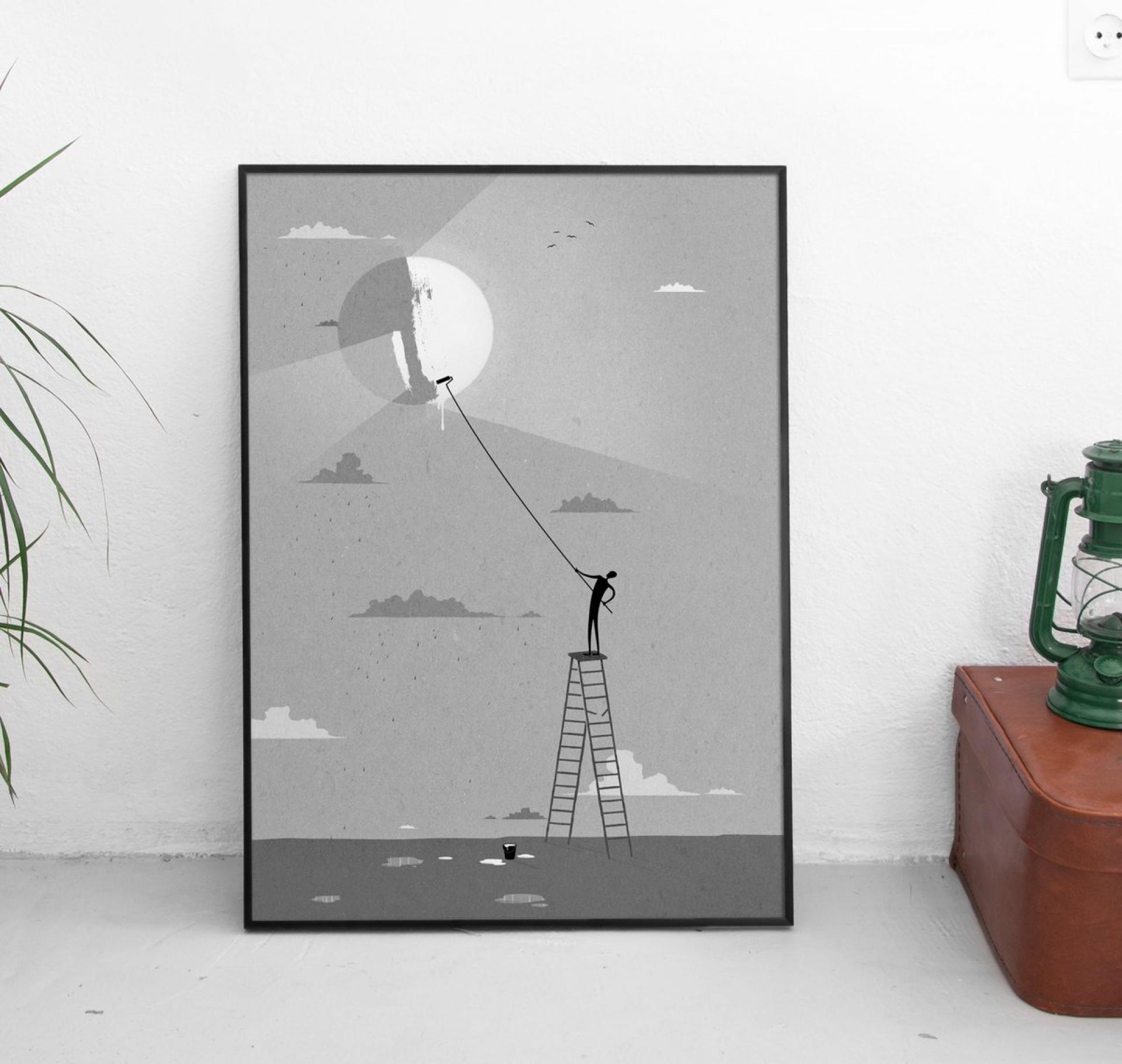 Plakat Sun Z Ramą Gust Gust