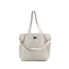 Torba typu shopper Mili Duo Braid MDB1 | szara