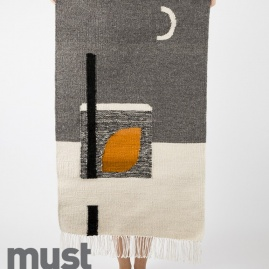 Kilim MOONLIGHT GRAY | 50 x 80 cm